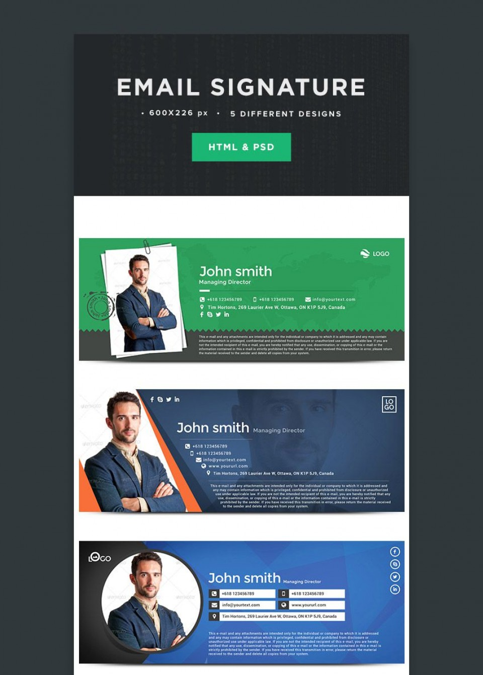 004 Awful Professional Email Signature Template Picture  Busines Download960