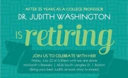 004 Awful Retirement Invitation Template Free Sample  Celebration Word