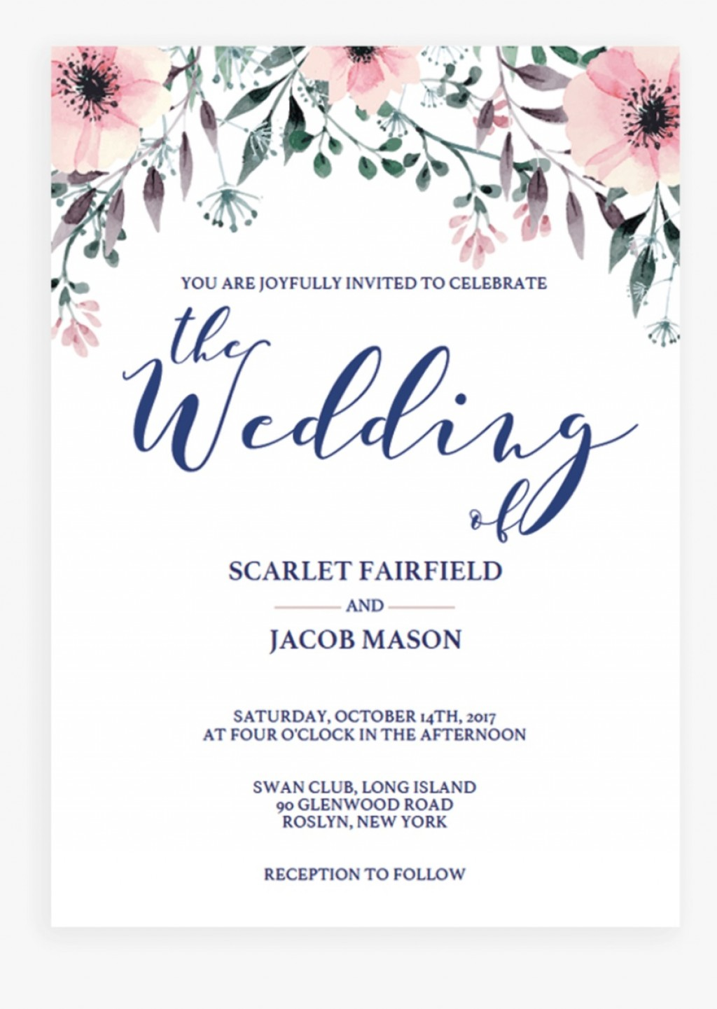 004 Awful Wedding Invitation Template Free Sample  Card Psd For Word Muslim 2007Large