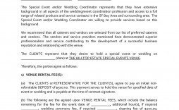 004 Awful Wedding Venue Contract Template Highest Clarity  Hire Sample Agreement