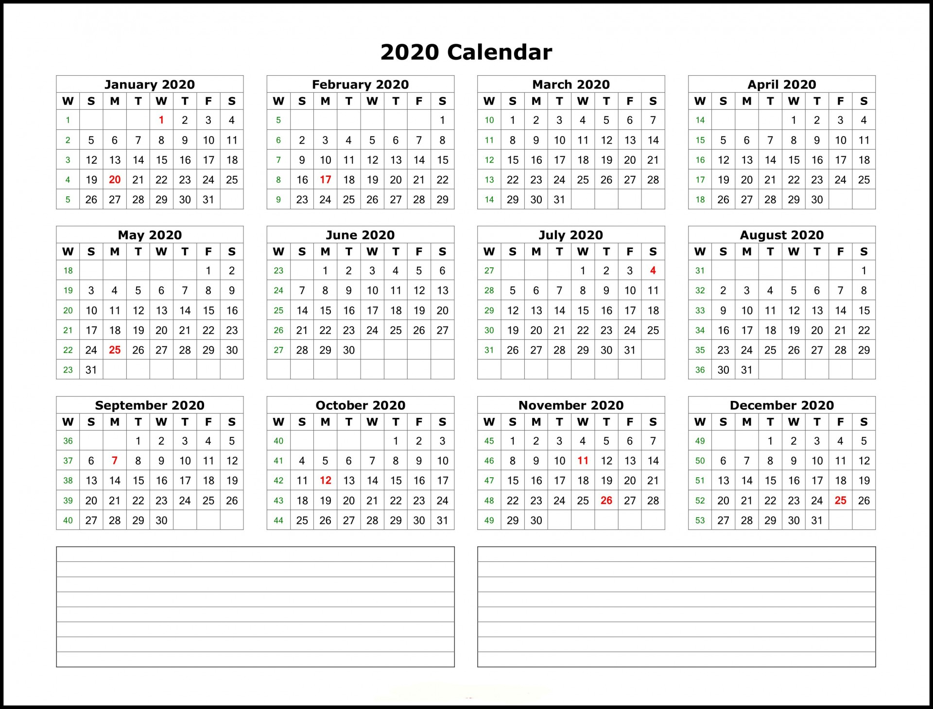 004 Beautiful 2020 Calendar Template Excel Highest Clarity  Microsoft Editable In Format Free Download1920
