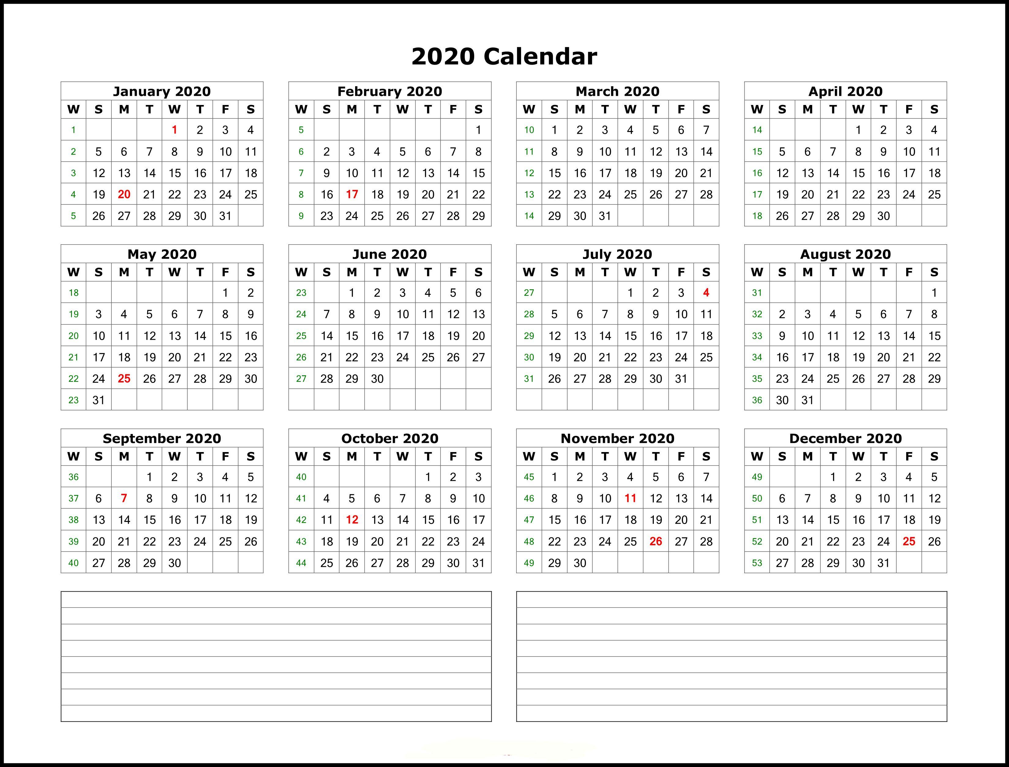 004 Beautiful 2020 Calendar Template Excel Highest Clarity  Microsoft Editable In Format Free DownloadFull