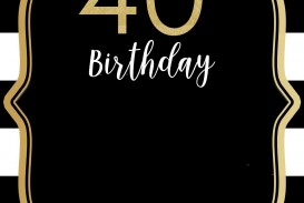 004 Beautiful 40th Birthday Party Invite Template Free Design