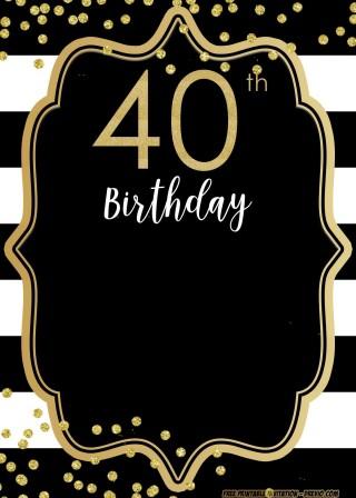 004 Beautiful 40th Birthday Party Invite Template Free Design 320