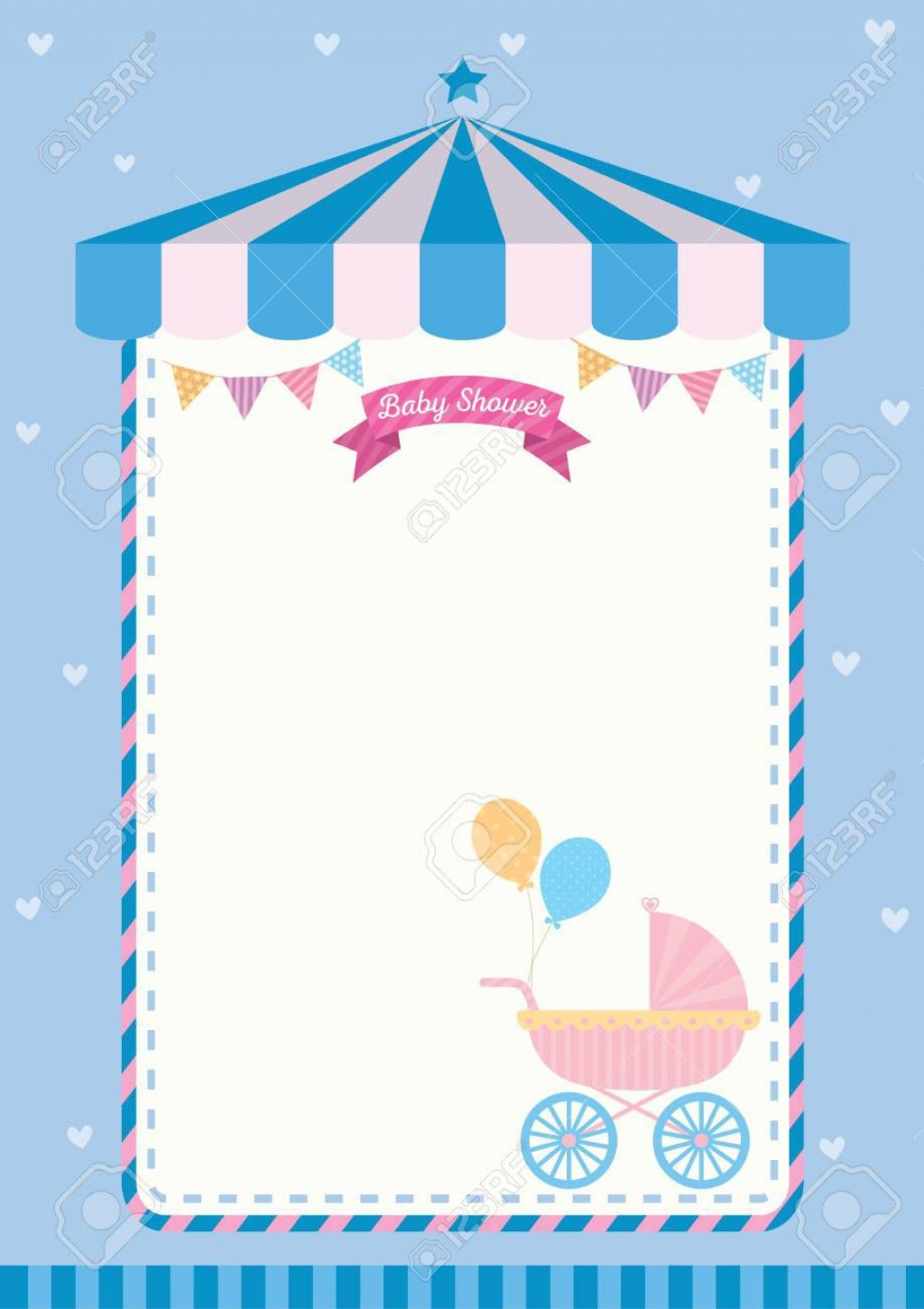 004 Beautiful Baby Shower Card Template Concept  Microsoft Word Invitation Design Online Printable FreeLarge