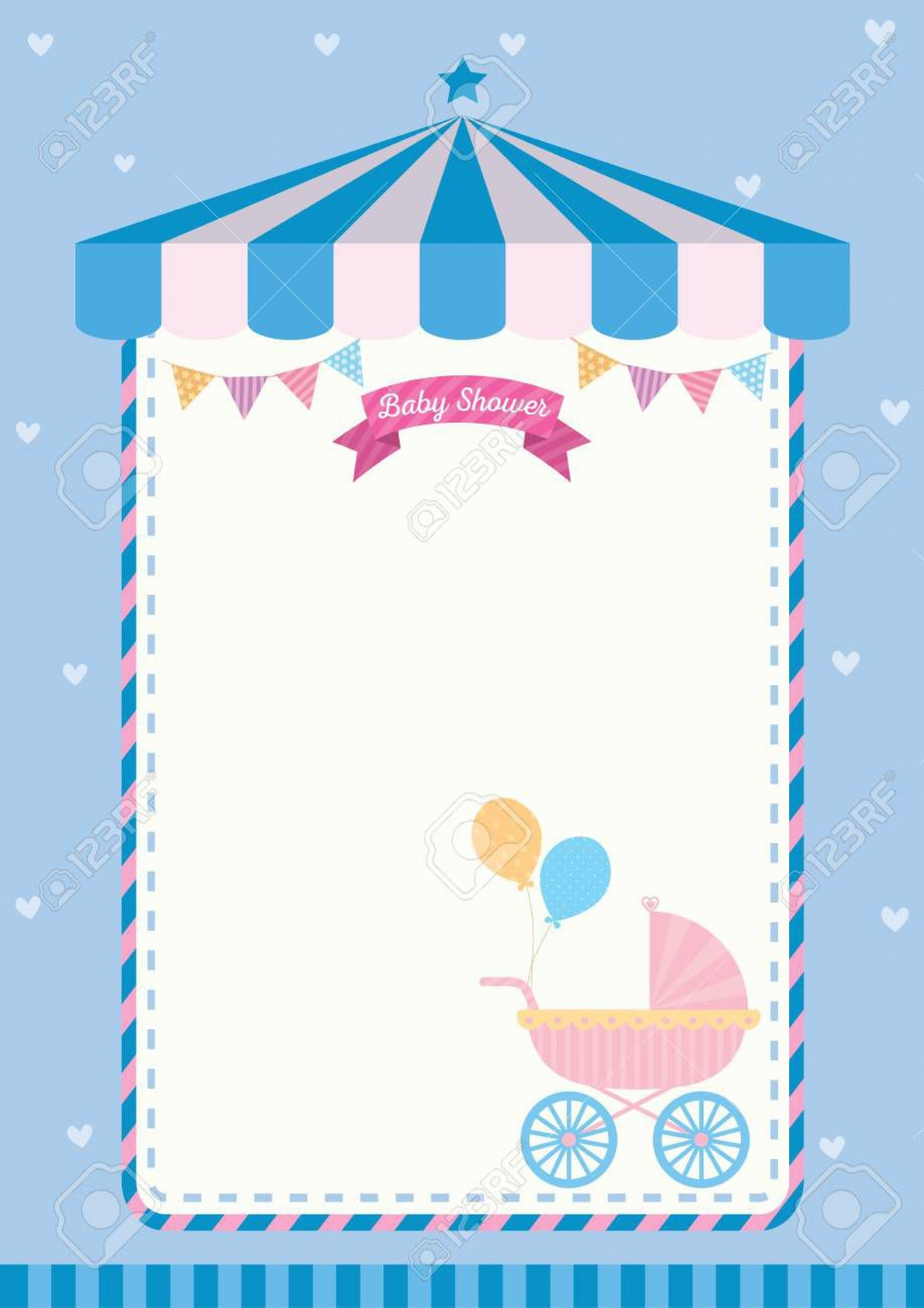 004 Beautiful Baby Shower Card Template Concept  Microsoft Word Invitation Design Online Printable Free1920