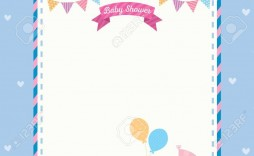 004 Beautiful Baby Shower Card Template Concept  Microsoft Word Invitation Design Online Printable Free