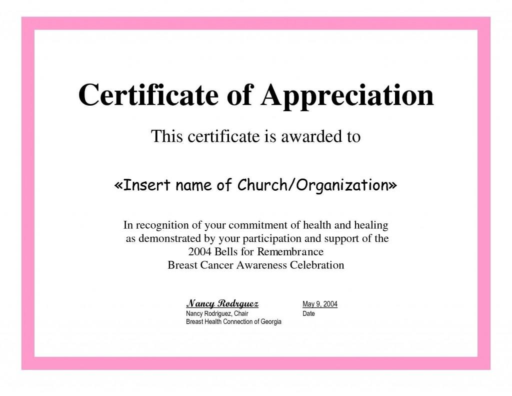 004 Beautiful Certificate Of Recognition Sample Wording Image  AwardLarge