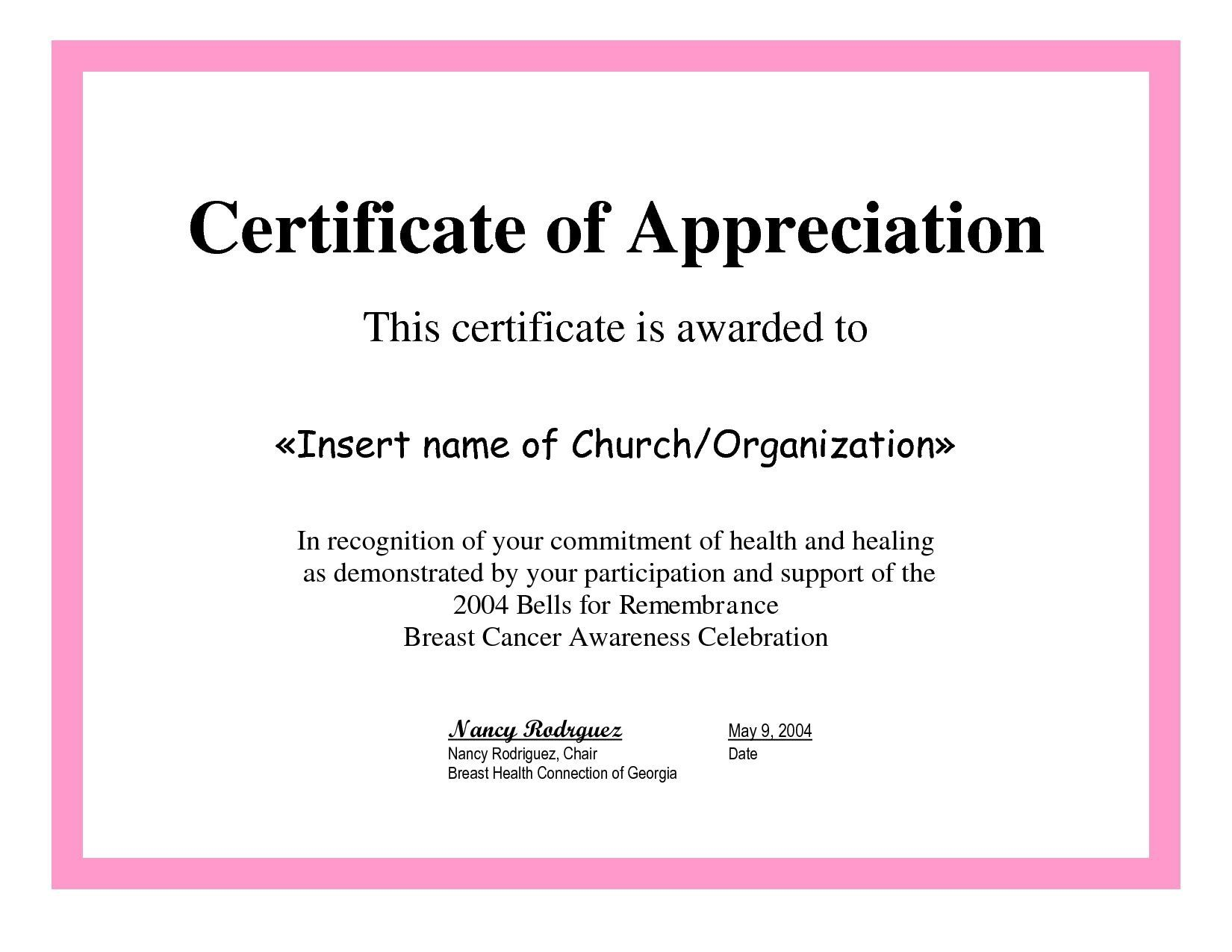 004 Beautiful Certificate Of Recognition Sample Wording Image  AwardFull