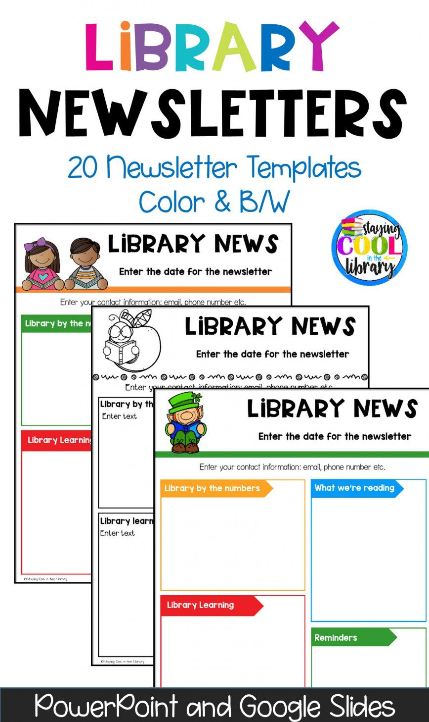 004 Beautiful Elementary School Newsletter Template Concept  Word Counselor