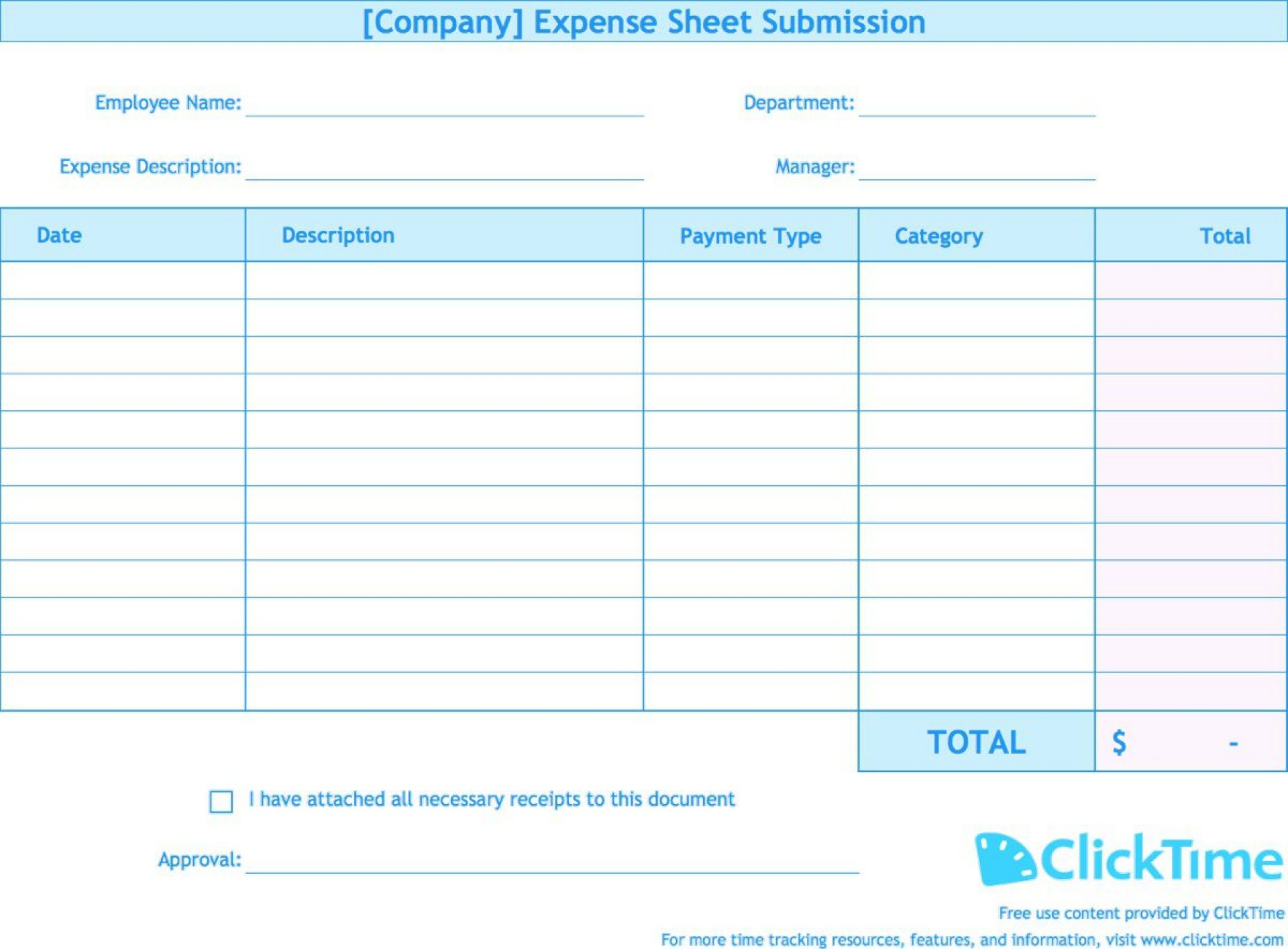 004 Beautiful Expense Report Template Free Highest Clarity  Pdf Excel Download1920