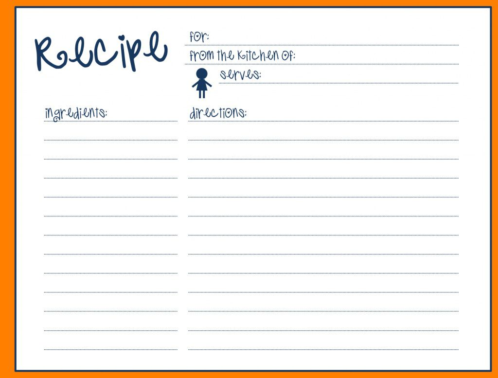 004 Beautiful Fillable Recipe Card Template High Definition  For Word FreeFull