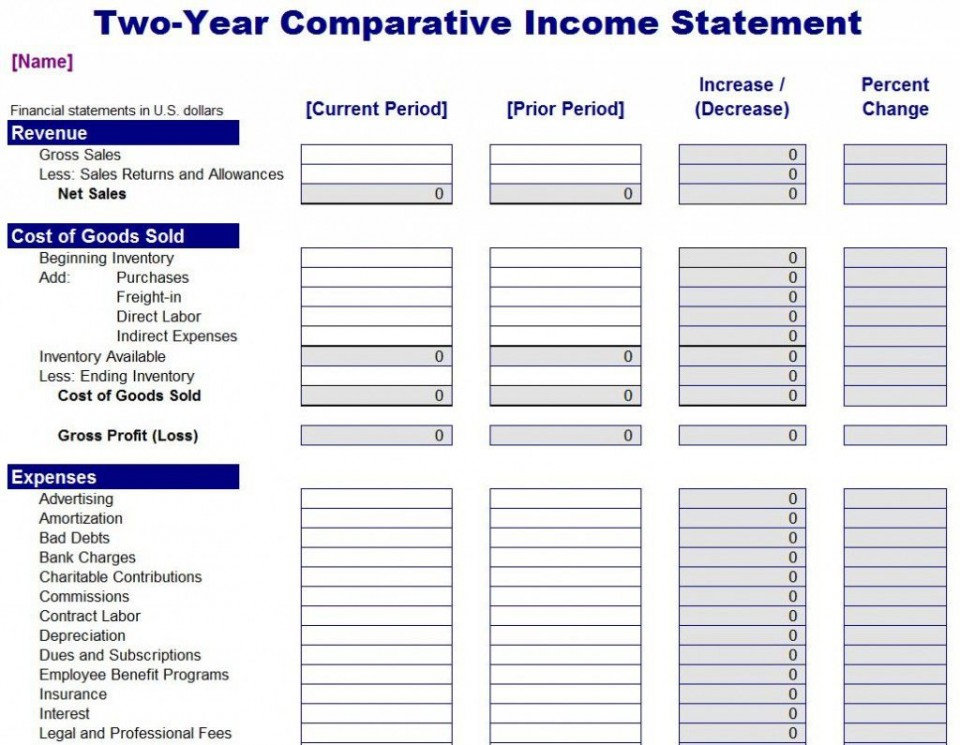 004 Beautiful Financial Statement Template Excel High Def  Personal Example Interim Free Download960
