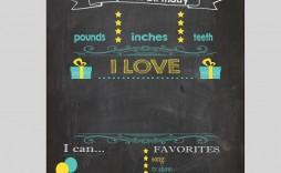 004 Beautiful Free Birthday Chalkboard Template Sample  First Printable Baby