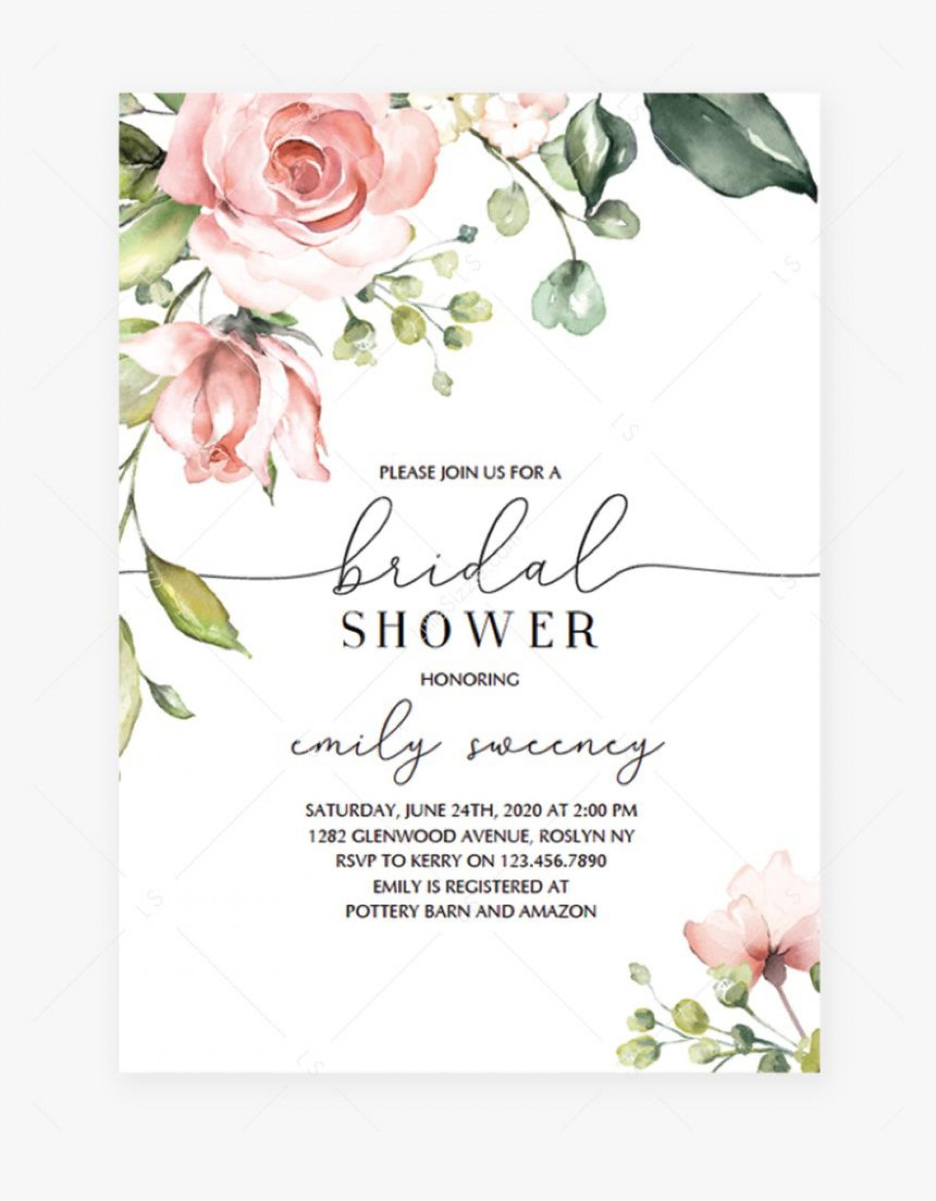 004 Beautiful Free Bridal Shower Invite Template Highest Clarity  Invitation For Word Wedding Microsoft1920