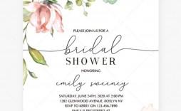 004 Beautiful Free Bridal Shower Invite Template Highest Clarity  Invitation For Word Wedding Microsoft