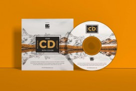 004 Beautiful Free Cd Cover Design Template Photoshop High Definition  Label Psd Download