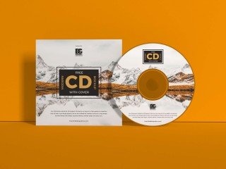 004 Beautiful Free Cd Cover Design Template Photoshop High Definition  Label Psd Download320