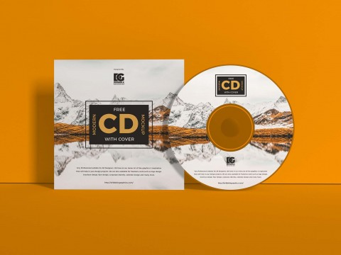 004 Beautiful Free Cd Cover Design Template Photoshop High Definition  Label Psd Download480