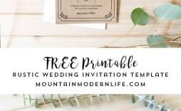 004 Beautiful Free Wedding Invitation Template Printable Highest Quality  For Microsoft Word Mac