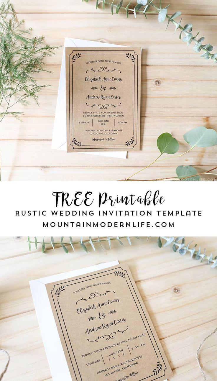 004 Beautiful Free Wedding Invitation Template Printable Highest Quality  For Microsoft Word MacFull