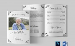 004 Beautiful Funeral Program Template Free Example  Online Printable Download Publisher