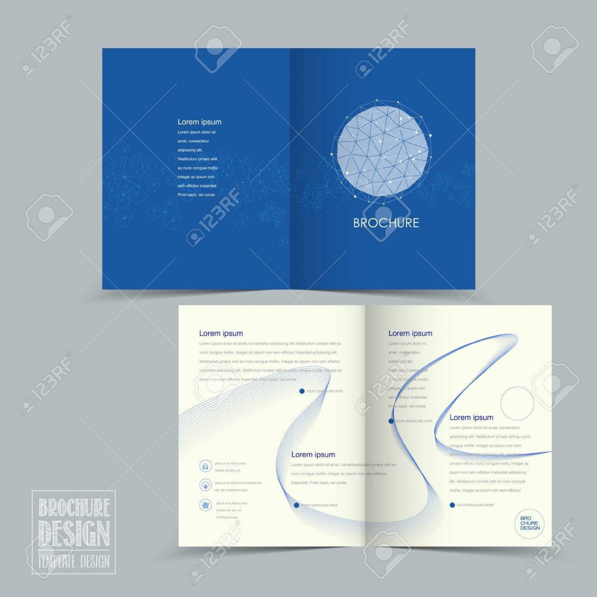 004 Beautiful Half Fold Brochure Template Concept  Free Microsoft Word Indesign1920
