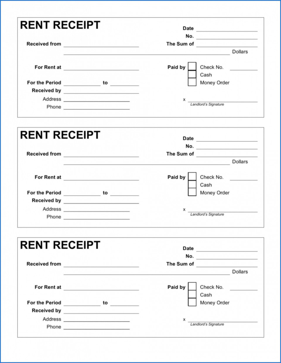 004 Beautiful House Rent Receipt Sample Doc Example  Format Download Bill Template India960