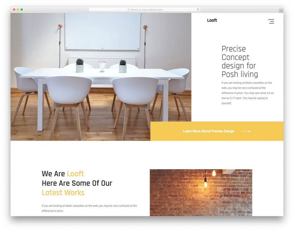 004 Beautiful Interior Design Html Template Free Download Example Large