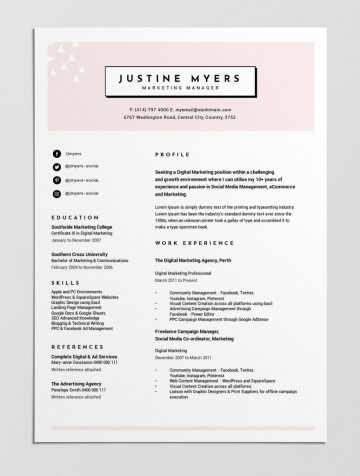 004 Beautiful Make A Resume Template Free Example  Writing Create Format360