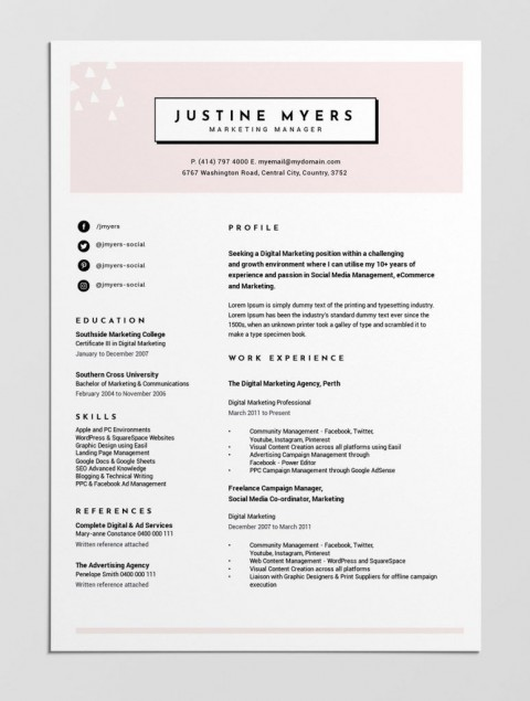 004 Beautiful Make A Resume Template Free Example  Create Your Own How To Write480