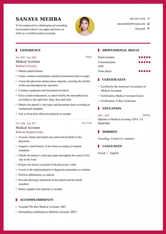 004 Beautiful Medical Resume Template Free High Def  Receptionist Cv Coder1920