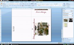 004 Beautiful Microsoft Word Greeting Card Template Idea  Birthday Blank Free 2007
