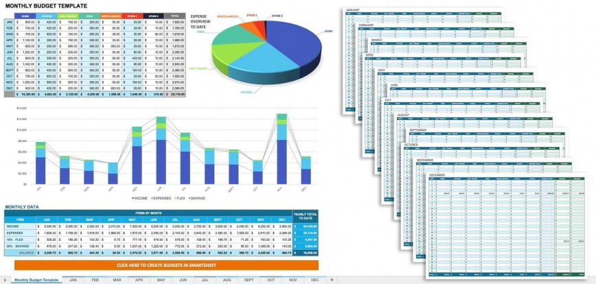004 Beautiful Monthly Budget Template Excel Highest Clarity  Spreadsheet Free Microsoft Example