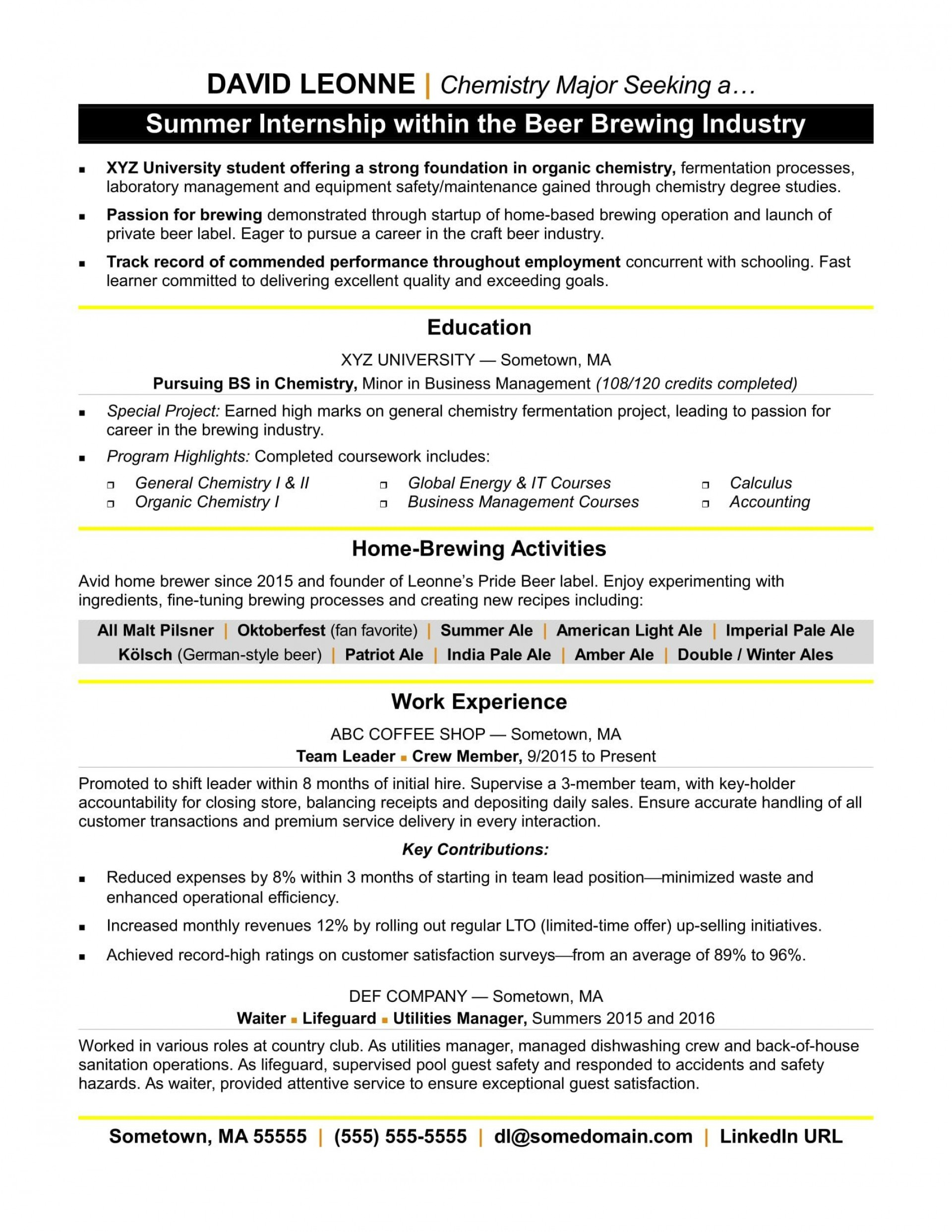 004 Beautiful Resume Template For Intern Picture  Interns Internship In Engineering Law Example1920