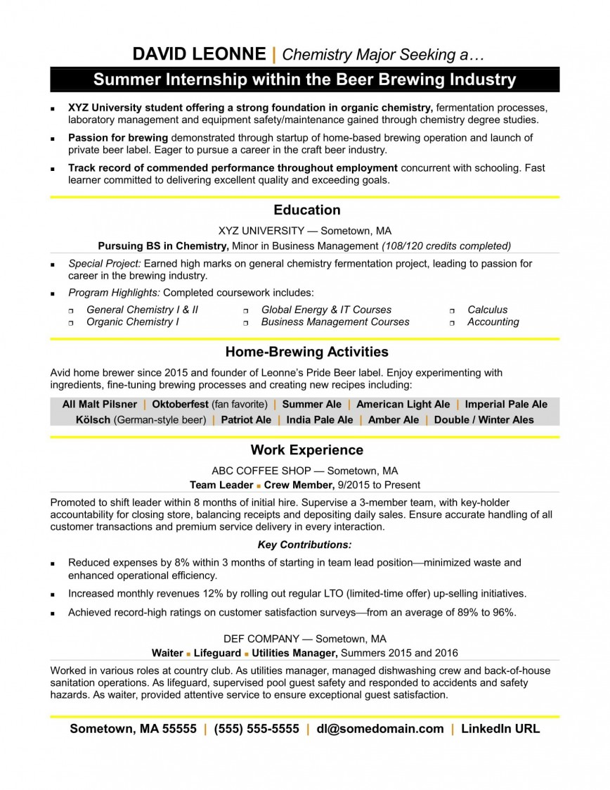 004 Beautiful Resume Template For Intern Picture  Interns Cv Internship Free Download In Engineering Student