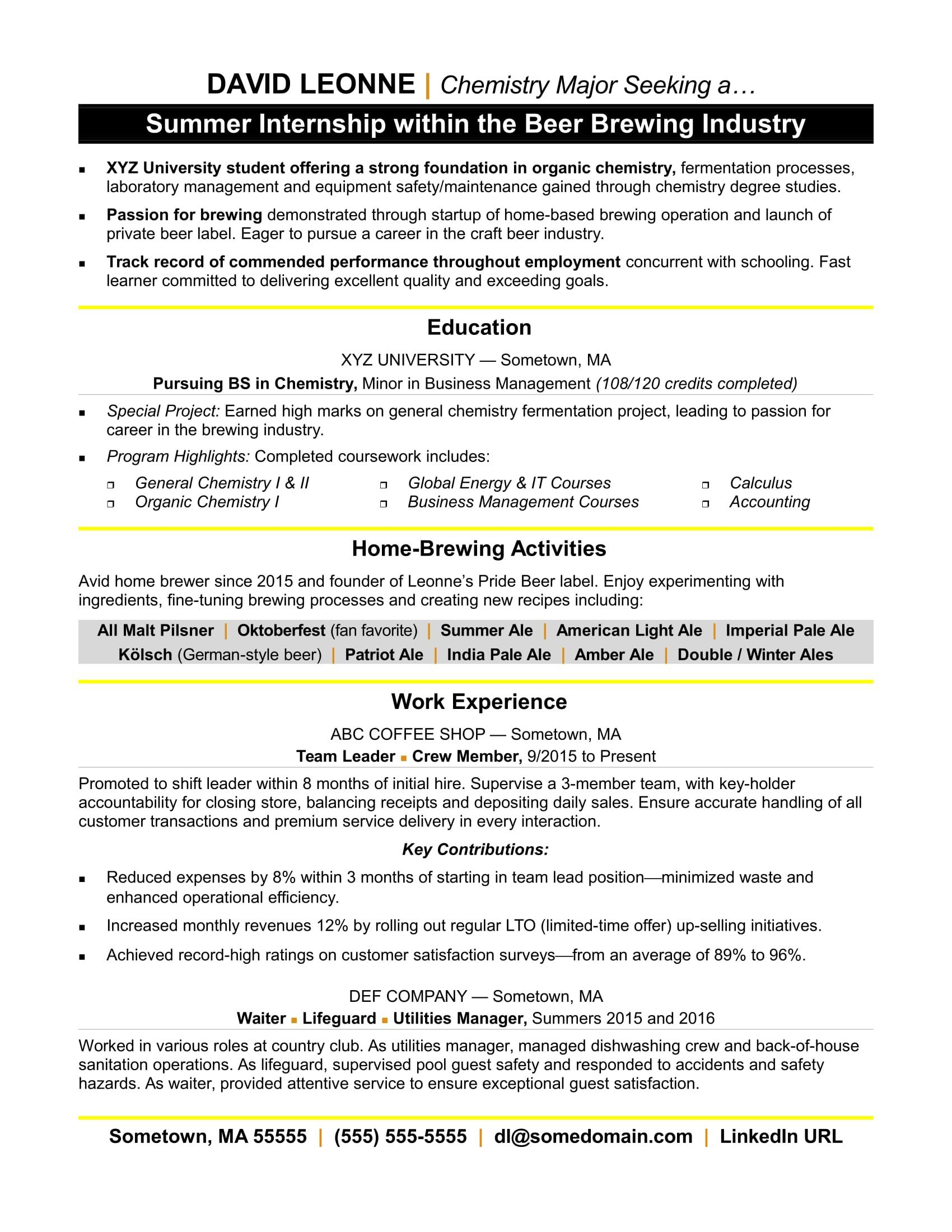 004 Beautiful Resume Template For Intern Picture  Interns Internship In Engineering Law ExampleFull