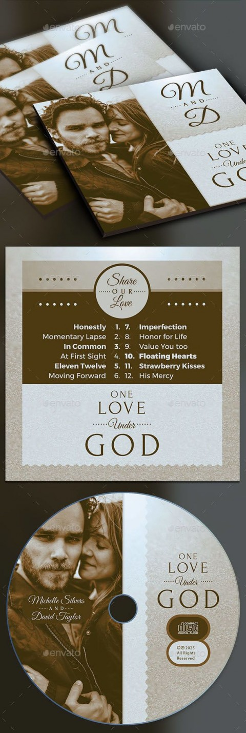 004 Beautiful Wedding Cd Cover Design Template Free Download Example 480