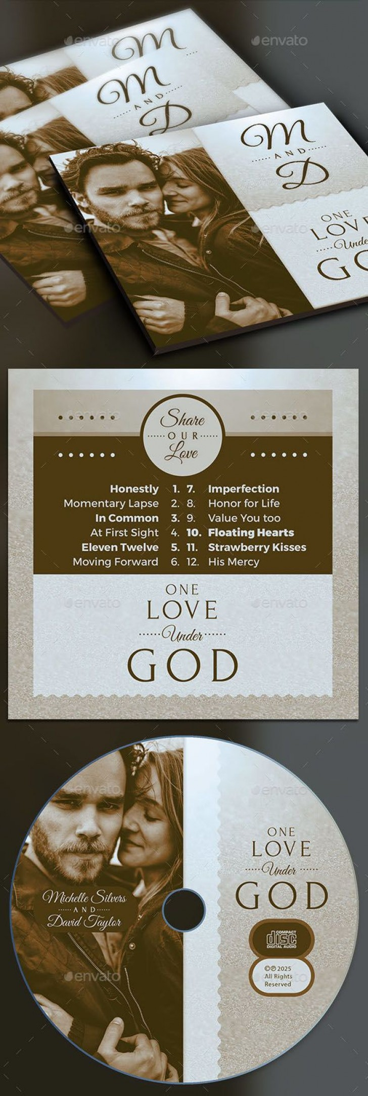 004 Beautiful Wedding Cd Cover Design Template Free Download Example 728