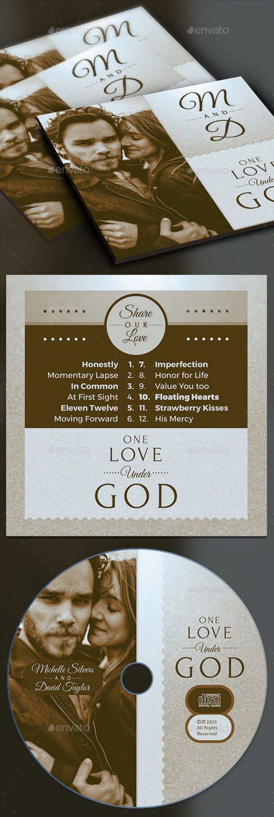 004 Beautiful Wedding Cd Cover Design Template Free Download Example 960