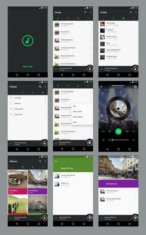 004 Best Android App Design Template Idea  Free Sketch Ui480
