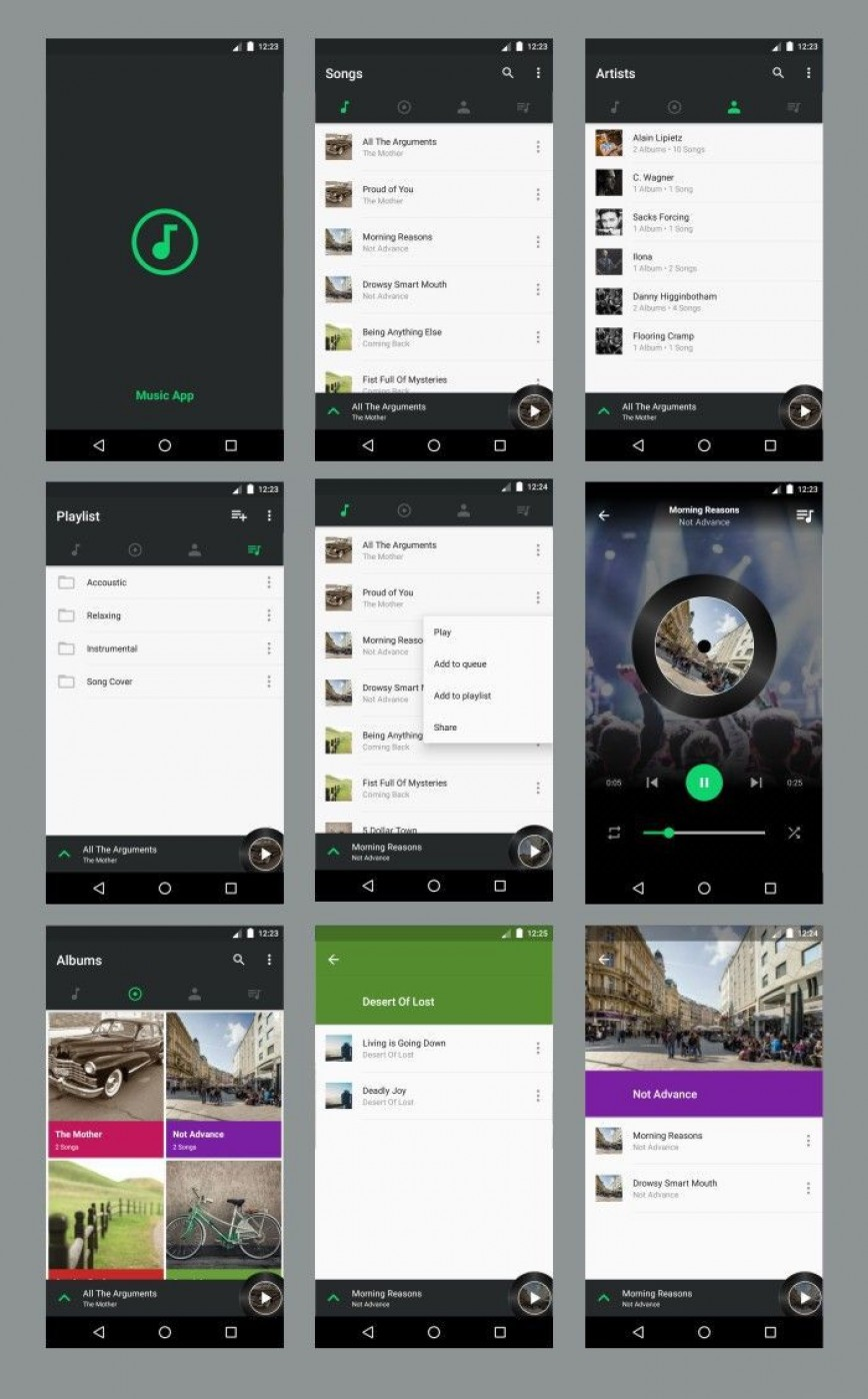 004 Best Android App Design Template Idea  Free Sketch Ui868