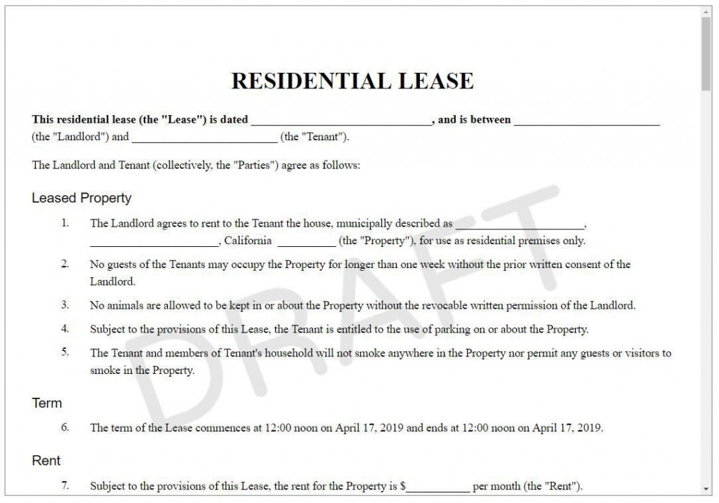 004 Best Apartment Rental Agreement Form Photo  Forms Lease Ontario Format SimpleLarge