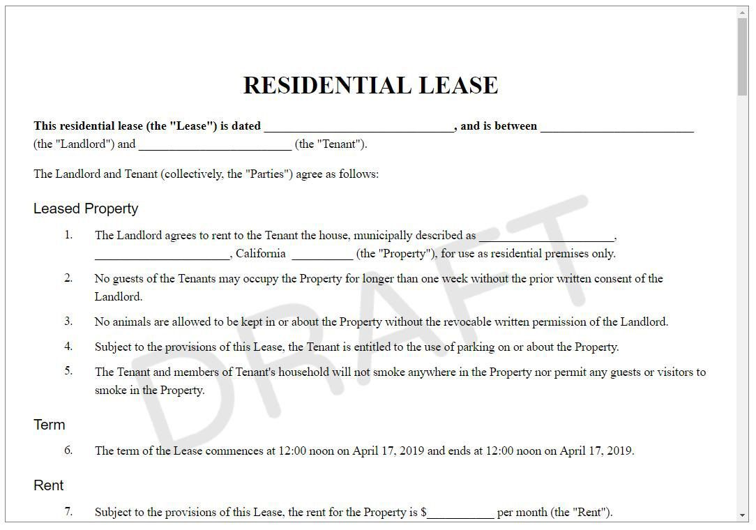 004 Best Apartment Rental Agreement Form Photo  Forms Lease Ontario Format SimpleFull