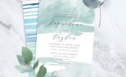 004 Best Beach Wedding Invitation Template Example  Templates Free Download For Word
