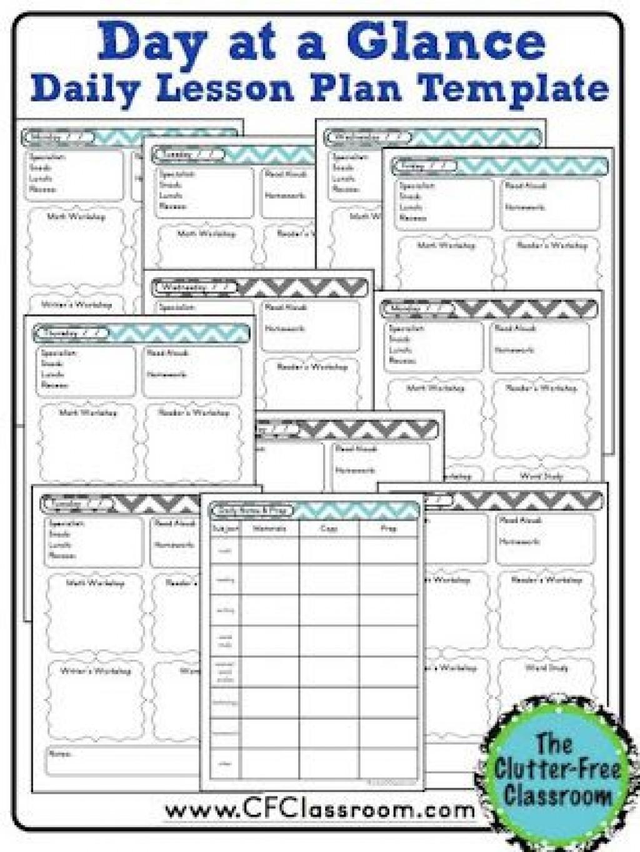 004 Best Editable Lesson Plan Template Kindergarten Example  FreeLarge