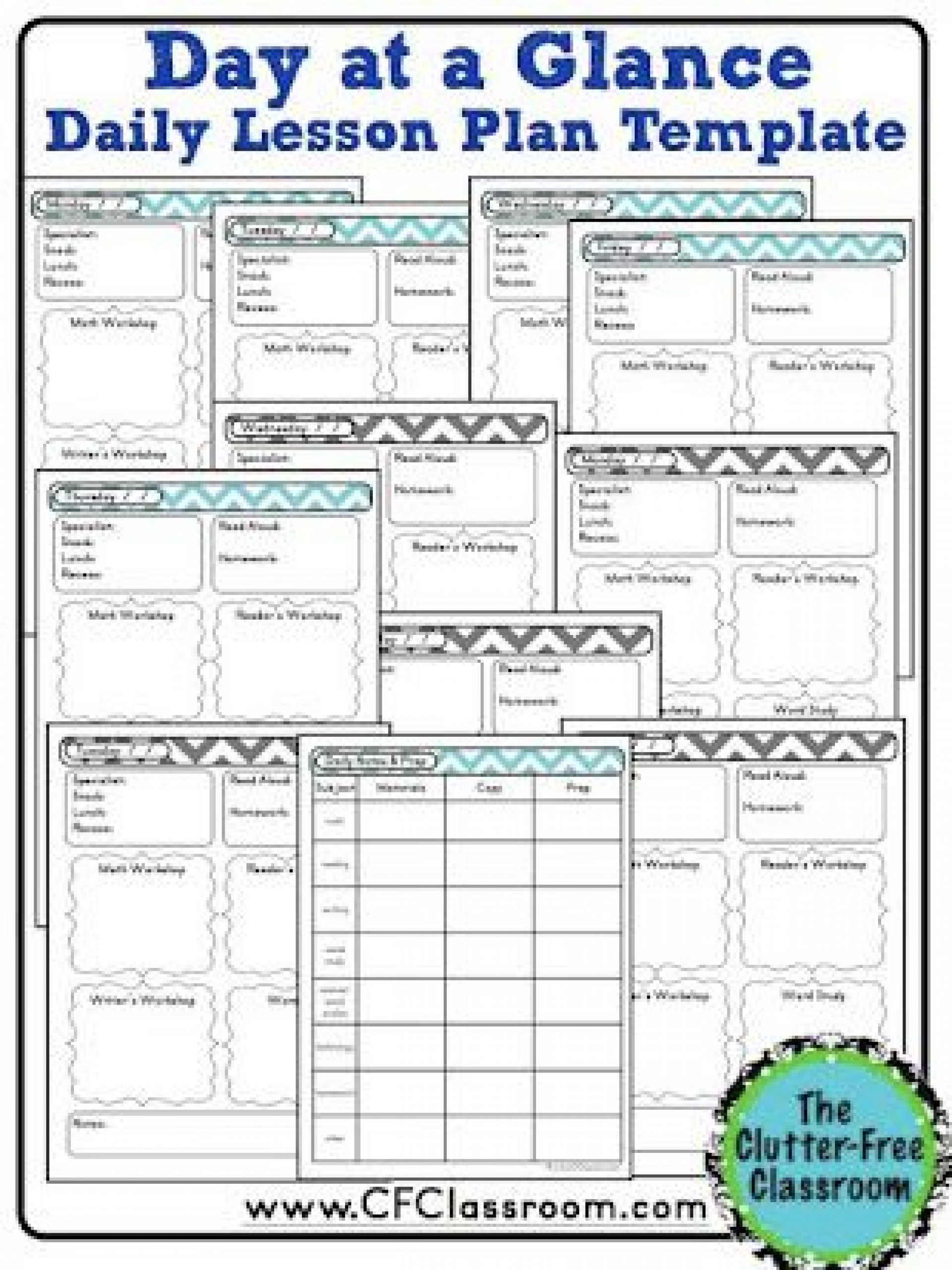 004 Best Editable Lesson Plan Template Kindergarten Example  Free1920