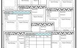 004 Best Editable Lesson Plan Template Kindergarten Example  Free