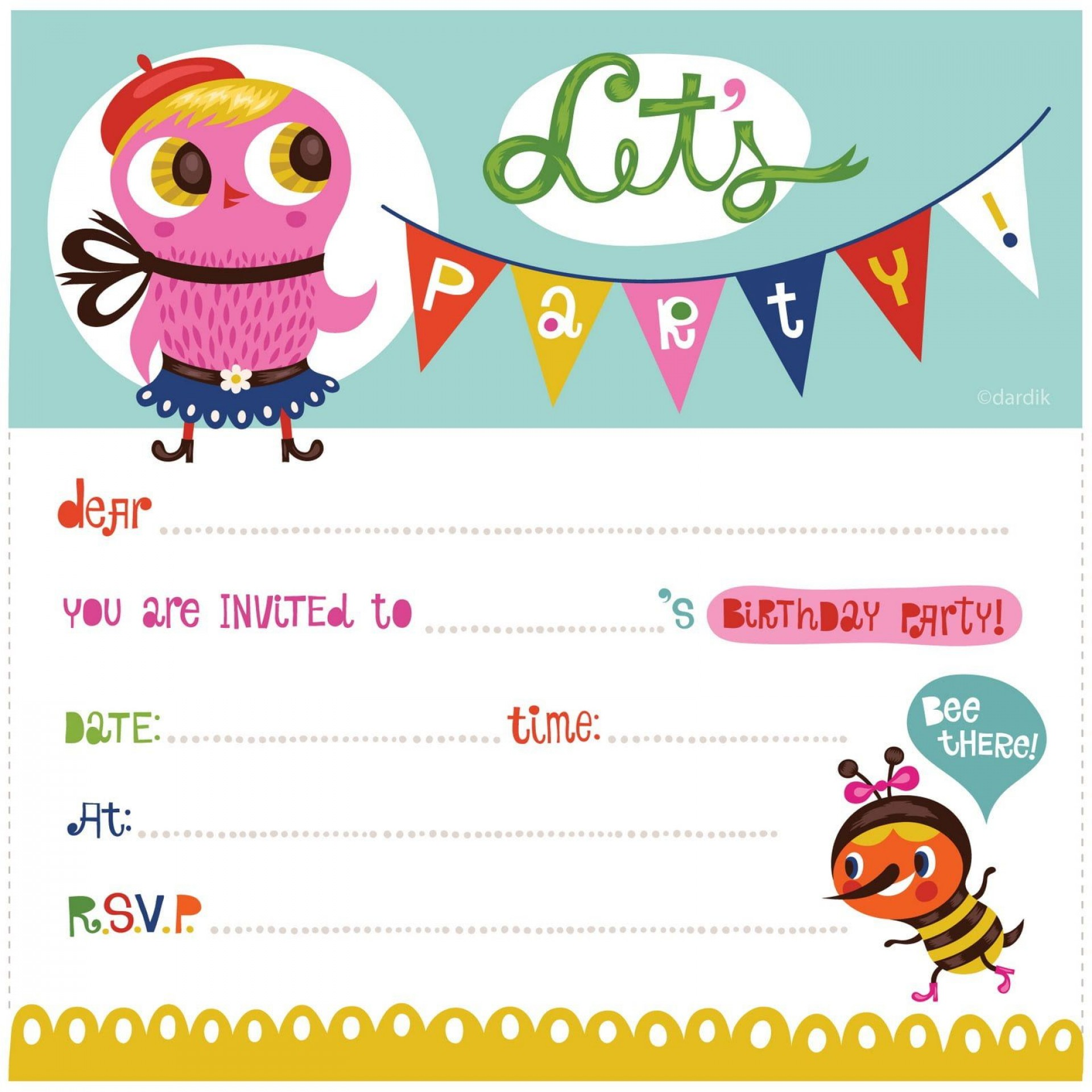 004 Best Free Birthday Party Invitation Template For Word Image 1920