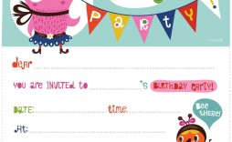 004 Best Free Birthday Party Invitation Template For Word Image